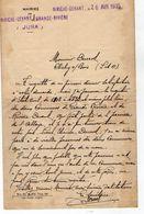 VP11.846 - Guerre 39 / 45 - Généalogie - Lettre De La Mairie De RIVIERE - DEVANT & Lettre De Mr H. DUCROT à CLICHY - Manuscripts