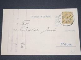 HONGRIE - Carte Commerciale Pour Pecs En 1906 - L 12957 - Hongrie