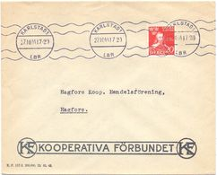 Enveloppe Kuvert - Pub Reklam Kooperativa Forbundet Karlstad - Till Hagfors Sverige Zweden 1944 - Postal Stationery