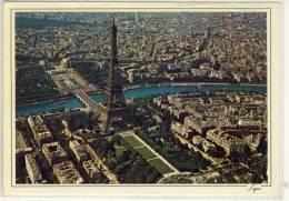 PARIS LA TOUR EIFFEL CLICHE AERIEN  CACHET SPÉCIAL MUSICIENS CELEBRES - Tour Eiffel