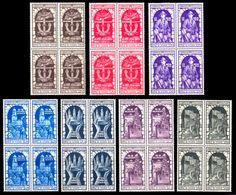 REGNO 1934 Decennale Dell'Annessione Di Fiume Serie Compl. Ordinaria In Quartine MNH ** Integra - 1900-44 Victor Emmanuel III