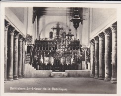 MINI-PHOTO D'éditeur---PALESTINE---BETHLEHEM--intérieur De La Basilique--voir 2 Scans - Palestine