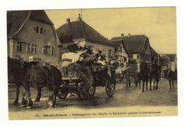 Reproduction Cpa N° 288 Haute Alsace Déménagement Des Réfugiés De BACHWILLER Pendant Le Bombardement - Non Classés
