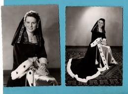 75 Paris Mlle Yvette Vigouroux Duchesse 1953 Des Bretons De Paris Folklore Avec Autographe Lot De 2 Cartes Format10,5x15 - Bretagne