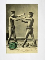 C.P.A. LAOS : La LUTTE LAOTIENNE, Première Position, Timbre En 1908 - Laos