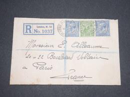 GRANDE BRETAGNE - Enveloppe En Recommandé De Londres Pour La France En 1926 - L 12969 - 1902-1951 (Rois)