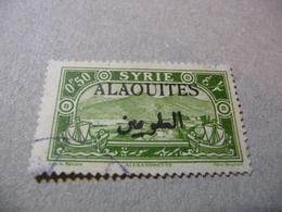 TIMBRE   ALAQUITES    N  24     COTE  0,80  EUROS   OBLITERE - Alaouites (1923-1930)