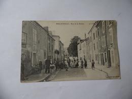 Cpa   Malzéville  Rue De La Rivière 1908   Belle Animation - Autres Communes