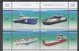 ESTONIA, 2017, MNH,ESTONIAN INNOVATION, SHIPBUILDING, SHIPS , FISH FEEDING BARGE, YACHTS,4v - Barche