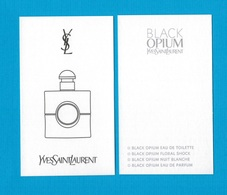 Cartes Parfumées Carte BLACK OPIUM  De YVES SAINT LAURENT - Modern (from 1961)