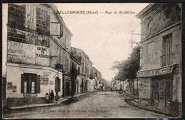 BELLEGARDE: Animation Enfantines  Rue De St. Giles. Carte Obl En 1927, Verso Blanc. - Bellegarde