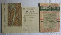 TRIESTE, Foglio 7bis, CARTA D'ITALIA, TOURING CLUB ITALIANO, Anno 1914, Scala 1:250.000 - Carte Geographique