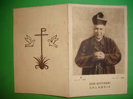 4 XII 1954 - Morte Don GIOVANNI CALABRIA - CIMIANO,Milano.Parrocchia S.Giuseppe Dei Morenti /Anno Santo Mariano/santino - Santini