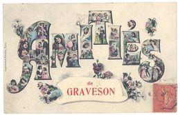 Cpa Amitiés De Graveson ( Famille Papillon ) - France
