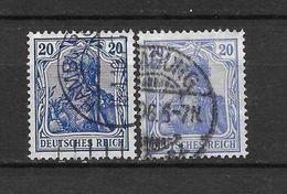 LOTE 1619  ///  ALEMANIA IMPERIO     YVERT Nº:  85  CON FECHADOR DE HAMBURG - Alemania