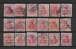 LOTE 1619  ///  ALEMANIA IMPERIO     YVERT Nº:  84  ESTUDIO VARIEDAD DE COLOR Y MATASELLOS - Alemania