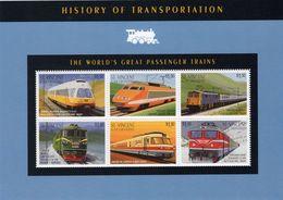 St Vincent  -  History Of Transportation  -  World's Passenger Trains    -   6v Feuillet Neuf/mint - Treni