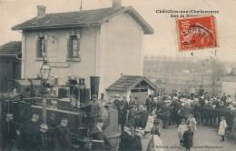 H36 - 01 - CHATILLON-SUR-CHALARONNE - Ain - Gare Du Tramway - Train - Châtillon-sur-Chalaronne