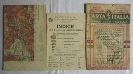 BENEVENTO, Foglio 36, CARTA D'ITALIA, TOURING CLUB ITALIANO, Inizi '900, Scala 1:250.000 - Carte Geographique