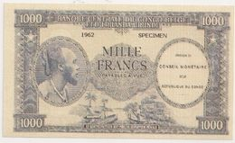 1000 FRANCS CONGO BELGE REPRODUCTION RECTO VERSO - Congo