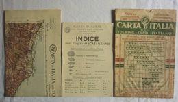 CATANZARO, Foglio 48, CARTA D'ITALIA, TOURING CLUB ITALIANO, Inizi '900, Scala 1:250.000 - Carte Geographique
