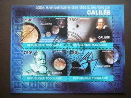 Space. Raumfahrt. Espace # Togo # 2010 Used S/s # Galileo Galilei - Space