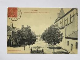 C.P.A. 81 VALENCE D'ALBIGEOIS : Place De L'Eglise, Animé, Timbre En 1906 - Valence D'Albigeois