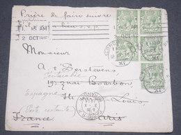 GRANDE BRETAGNE - Enveloppe De Londres  Pour La France En 1914 Et Redirigé En Espagne - L 12975 - 1902-1951 (Rois)