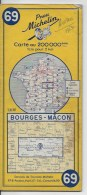 MICHELIN  69  1/200000  Bourges Macon - Cartes Routières