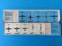 2 PLAQUETTES AVIATION : Caractéristiques Et Performances, Système Avec Glissière Correspondan Aux Avions Cités. - Aviation