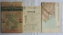 NUORO, Foglio 40, CARTA D'ITALIA, TOURING CLUB ITALIANO, Inizi '900, Scala 1:250.000 - Carte Geographique