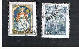 ITALIA REPUBBLICA  - SASS. 1858.1859    -      1989     ARTE ITALIANA   -      USATO - 6. 1946-.. Repubblica