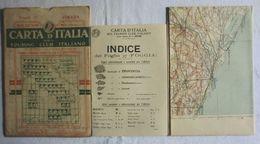 FOGGIA, Foglio 37, CARTA D'ITALIA, TOURING CLUB ITALIANO, Inizi '900, Scala 1:250.000 - Carte Geographique