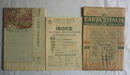 CAGLIARI, Foglio 46, CARTA D'ITALIA, TOURING CLUB ITALIANO, Inizi '900, Scala 1:250.000 - Carte Geographique