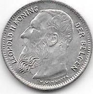 *belguim 50 Centimes  Leopold  II  1909 Dutch  Vf+ - 1865-1909: Leopold II