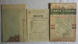 COSENZA, Foglio 47, CARTA D'ITALIA, TOURING CLUB ITALIANO, Inizi '900, Scala 1:250.000 - Carte Geographique