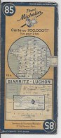 MICHELIN 85  1/200000  Biarritz Luchon - Roadmaps