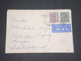 GRANDE BRETAGNE - Enveloppe Par Avion Pour La Suisse En 1935 - L 12985 - 1902-1951 (Rois)