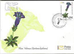 CG 2016-05 FLOWERS, CRNA GORA MONTENEGRO, FDC - Montenegro