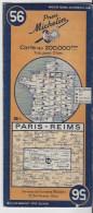 MICHELIN 56 1/200000  Paris Reims - Cartes Routières