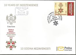 CG 2016-09 10A°INDEPENDENT, CRNA GORA MONTENEGRO, FDC - Montenegro