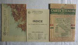 CORSICA, Foglio 25bis, CARTA D'ITALIA, TOURING CLUB ITALIANO, Inizi '900, Scala 1:250.000 - Carte Geographique