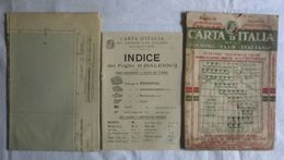 SALERNO, Foglio 41, CARTA D'ITALIA, TOURING CLUB ITALIANO, Inizi '900, Scala 1:250.000 - Carte Geographique