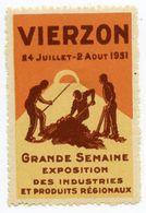 CINDERELLA : FRANCE - VIERZON, GRANDE SEMAINE EXPOSITION DES INDUSTRIES ET PRODUITS REGIONAUX 1931 - Cinderellas