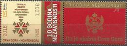 CG 2016-09 10A°INDEPENDENT, CRNA GORA MONTENEGRO, 1 X 1v + Label - Montenegro