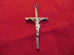 Pendentif /  Croix / Palissandre Et Métal Chromé/ Lourdes /Début XXéme Siécle       CAN742 - Religión & Esoterismo