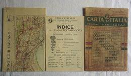 TARANTO, Foglio 43, CARTA D'ITALIA, TOURING CLUB ITALIANO, Inizi '900, Scala 1:250.000 - Carte Geographique