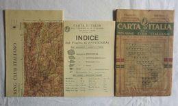 POTENZA, Foglio 42, CARTA D'ITALIA, TOURING CLUB ITALIANO, Inizi '900, Scala 1:250.000 - Carte Geographique