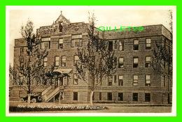 CAMPBELLTON, NEW BRUNSWICK - HOTEL DIEU HOSPITAL - ANIMATED OLD CAR -  NOVELTY MFG & ART CO LTD - - Nouveau-Brunswick
