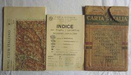 AOSTA, Foglio 1, CARTA D'ITALIA, TOURING CLUB ITALIANO, Inizi '900, Scala 1:250.000 - Carte Geographique